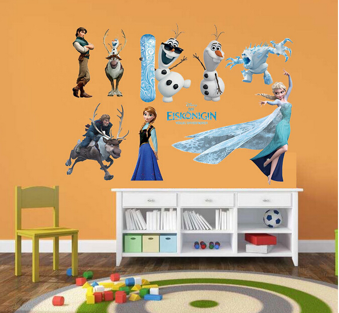 online home decor pakistan frozen characters representation wall sticker 11678