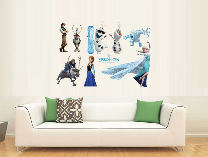 home decor online pakistan frozen characters representation wall sticker 11059