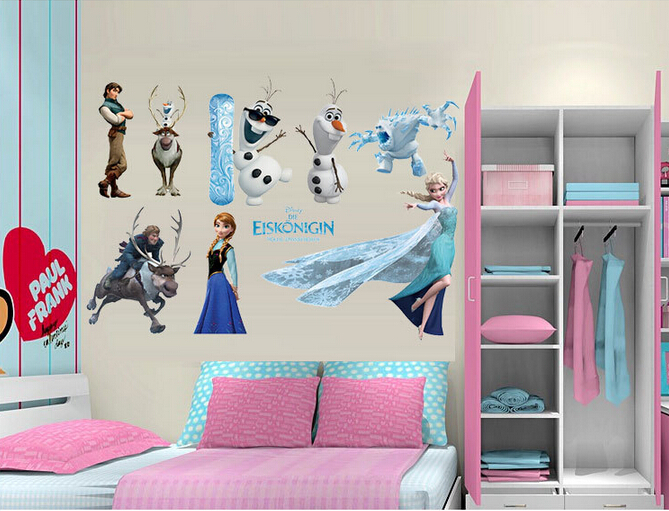 online home decor shopping pakistan frozen characters representation wall sticker 13010